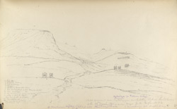 f.36'   Sketch of ground near Hykulzye, on which the Action took place of the 28th March, 1842 - under Maj Genl England - K.H. with notes about positions.'